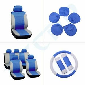 Auto Car Seat Covers W Headrest Covers Gray Blue Dust Dirt Proof For Infiniti