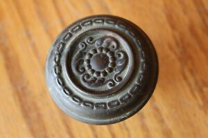Ornate Door Knob Handle Vintage Either Copper Or Brass Antique Scroll Salvage