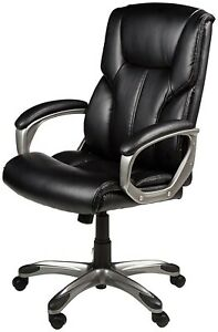 Big And Tall Leather Executive Office Chair With Wheels Lumbart Support All day