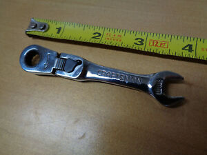 Usa Made Craftsman 8mm Stubby Short Locking Flex Head Ratchet Wrench Metric