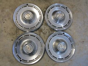 14 Inch Ford Ltd Vintage Hubcaps Set Of Four