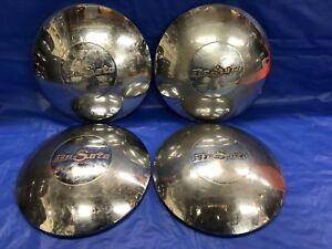 Vintage Set Of 4 1949 De Soto Dog Dish Hubcaps Custom Deluxe Club Coupe