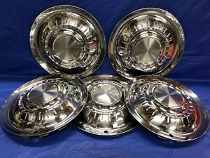 Vintage Set Of 5 1955 Plymouth 15 Hubcaps Belvedere Savoy