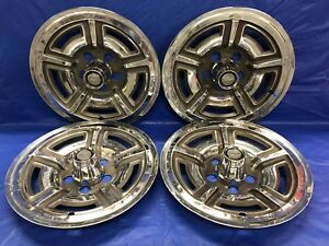 Vintage Set Of 4 1966 69 Ford 15 Hubcaps Galaxie Mustang