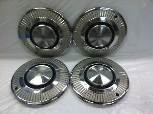 Vintage Set Of 4 1963 64 Plymouth 13 Hubcaps Valiant