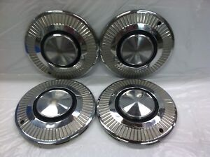 Vintage Set Of 4 196364 Plymouth 13 Hubcaps Valiant