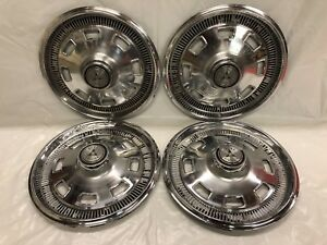Vintage Set Of 4 1967 Dodge 14 Hubcaps Charger Dart Coronet Good Condition