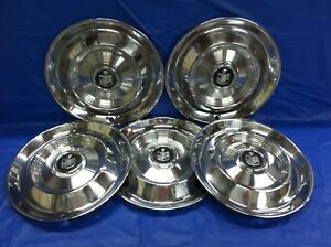Vintage Set Of 5 1960 Mercury 14 Hubcaps Monterey Park Lane Colony Park