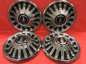 Vintage Set Of 4 1967 Plymouth 14 Hubcaps Fury Satellite Good Condition