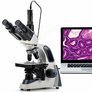 Swift 2500x Led Trinocular Compound Microscope 3d Mechanical Stage 1 3mp Camera