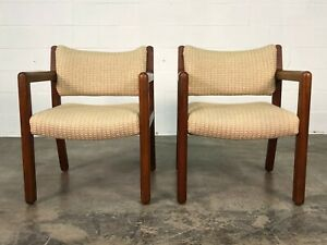 Mid Century Modern Style Open Arm Dining Offce Chair A Pair