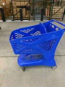 Toys R Us Blue Plastic Retail Grocery Shopping Cart Very Rare