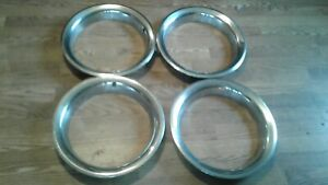 Original1969 1972 Chevy Gmc Blazer C 10 4x4 Set Of 4 Rally Trim Rings