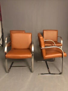 Mid Century Brno Style Flat Bar Chairs Only 2 Left