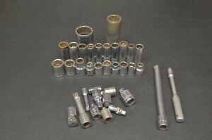 35 Piece Sk Tools Sockets Adapters Extensions Mechanics Tools Sae And Metric