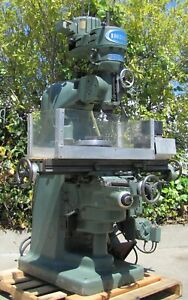 Index Mill 2hp Vertical Milling Machine 46 Table 2 Axis 230v 3ph Bridgeport