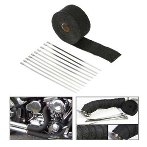 5m Exhaust Heat Wrap Pipe Heat Insulated Wrap For Car Motorcycle J4b8