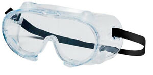 Vented Anti Fog Safety Goggles W Elastic Band Clear Frame Glasses 288 Pieces