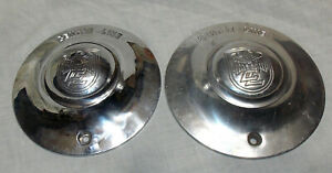 Pair Of Center Line Aluminum Center Caps One Brushed One Polished Centerline