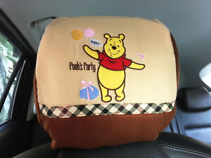 Winnie The Pooh Disney Car Truck Van Suv 1 Piece Head Rest Head Seat Cover Pt
