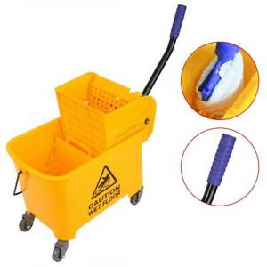 5 Gallon Mini Mop Bucket W Wringer Combo Commercial Rolling Cleaning Cart 20l