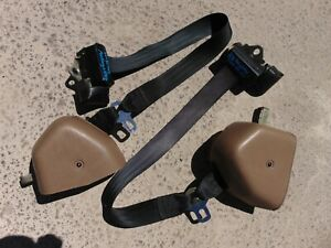 94 95 Ford Mustang Convertible Tan Front Seat Belts 1 1 8 Latch Both Tested