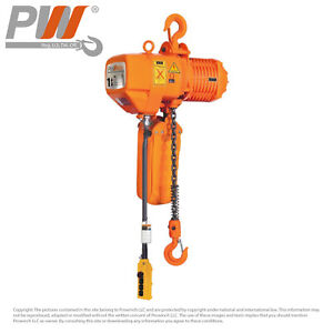Prowinch 2 Speed 1 Ton Electric Chain Hoist 20 Ft G100 Chain M4 h3 220 440v