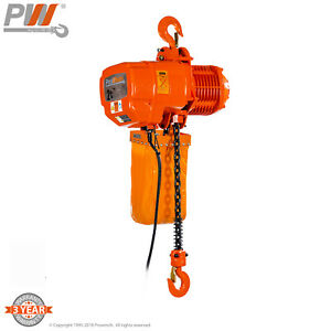 Prowinch 2 Speed 2 Ton Electric Chain Hoist 20 Ft G100 Chain M4 h3 220 440v