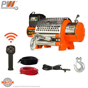 Prowinch 20 000 Lbs Electric Waterproof Winch Wire Rope 12v Wireless