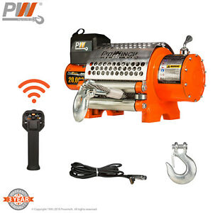 Prowinch 20 000 Lbs Electric Waterproof Winch Wire Rope 24v Wireless