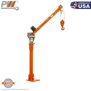 Prowinch 1 100 Lbs Davit Crane 360 Swivel Electric Winch 12v