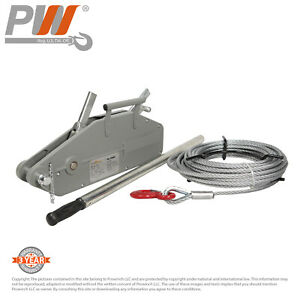 Prowinch 3520 Lbs 1 600kg Lever Wire Rope Puller Hoist 65 Ft Wire Rope