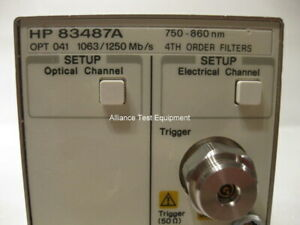 Agilent Hp 83487a Optical Electrical Module Opt 041 6 Mo Warranty