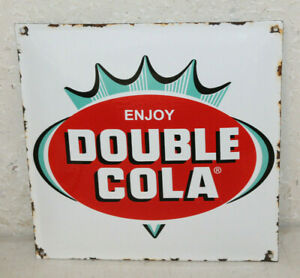 Double Cola Porcelain Enamel Signs Vintage Style Country Store Advertising 12
