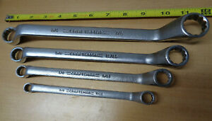 Usa Made Craftsman Professional 4pc Sae Inch Box End Wrench Set Deep Offset