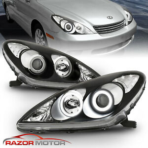 Led Halo Ring For 2002 2003 Lexus Es300 04 06 Es330 Black Projector Headlights