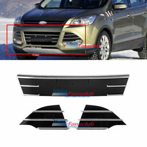 Chrome Trim Front Lower Grille Fog Cover For Ford Escape Kuga Se 2013 2016 14 15