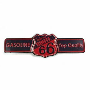 Route 66 Metal Sign For Hot Rod Fomoco Sbc Av8 Chevy 32 Ford Mustang Streetrod