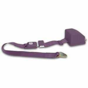 2 Point Retractable Plum Purple Lap Seat Belt Custom Street Rod Muscle Car Truck