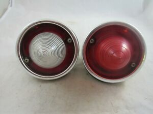 Vintage Pair Of Original 1960 Chevy Impala Guide Tail Light Back Up Lights