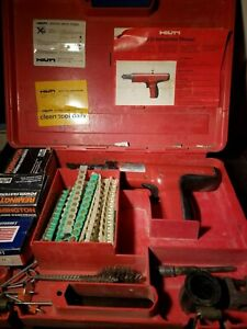 Hilti Dx35 Powder Actuated Nail Gun In Case W Manual And Extras