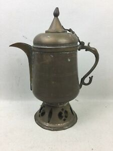 Vtg Antique Middle Eastern Arabic Turkish Hammered Copper Dallah Coffee Pot 12