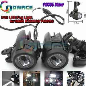 Pair Assembly Led Fog Light Driving Auxiliary Lights For Bmw R1200gs Adv F800gs
