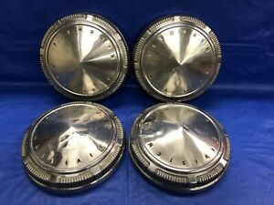 Vintage Set Of 4 1968 74 Plymouth Dog Dish Hubcaps Mopar Police Interceptor