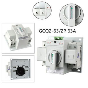 Mini 2p 63a Dual Power Automatic Transfer Switch Toggle Switch Transfer Device