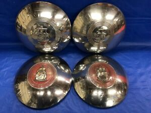 Vintage Set Of 4 1951 52 Plymouth Dog Dish Hubcaps Belvedere Cranbrook Cambridge