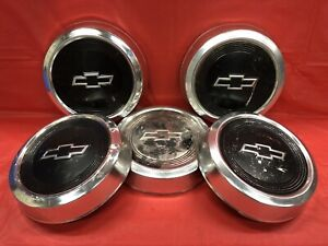 Vintage Set Of 5 1984 91 Chevrolet Dog Dish Hubcaps S10 Pickup Astro Van