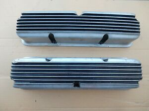 Rare Holmes Mfg Moon Ford Mercury 390 427 428 Alum Finned Valve Covers