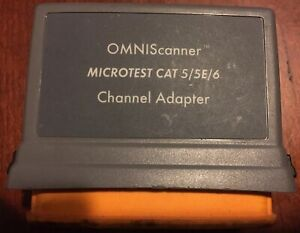 Microtest Omniscanner Category 6 Channel Adapter No 2950 4012 02 Network Fluke