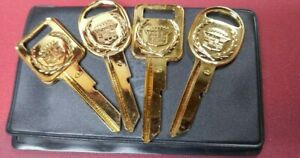 Nos Gold Cadillac C d Key Blanks 70 s 80 s Set Of 4 With Case r277